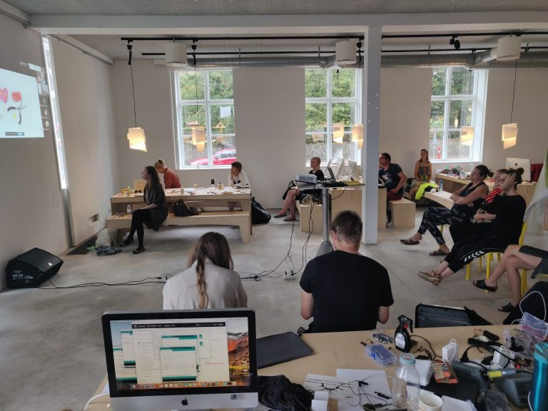Soft Circuits, a summer camp on wearables at Catch in Elsinore, Denmark
